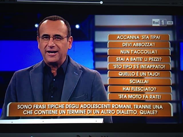 roman slang fun question RAI TV