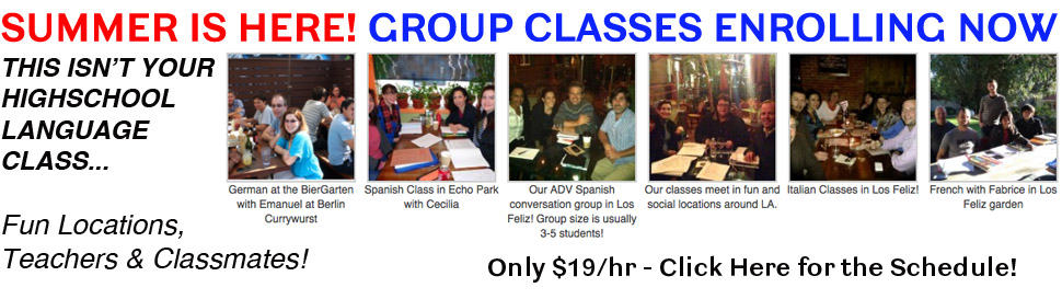 SUMMER langueage group classes 2014